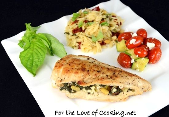 For the Love of Cooking: Chicken Stuffed with Spinach, Feta and Pine ...