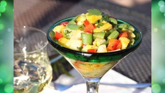 "Grilled Scallops ""Ceviche Style"" 