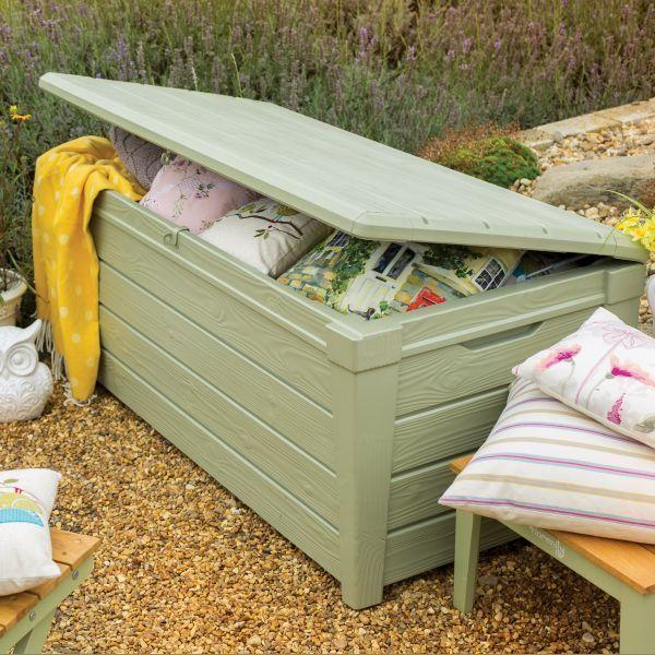 Keter Florenity Verdi Saxon XL Size 454L Waterproof Garden Storage Be