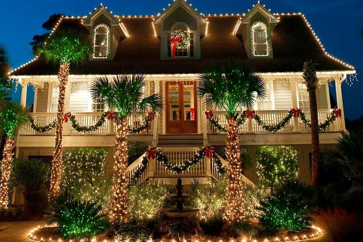 tropical christmas lighting for christmas pinterest