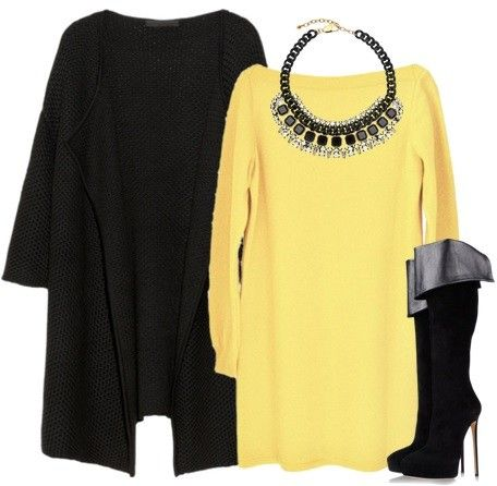 Black + Yellow