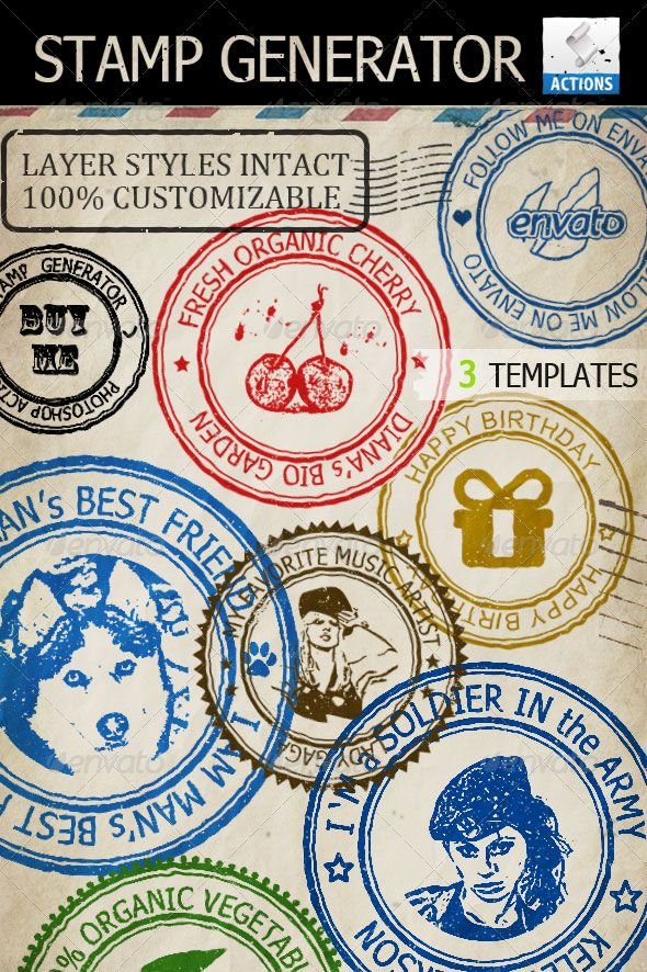 Rubber Stamp Template