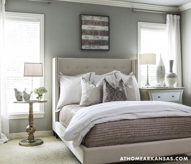 Sherwin-Williams Functional Gray Bedroom