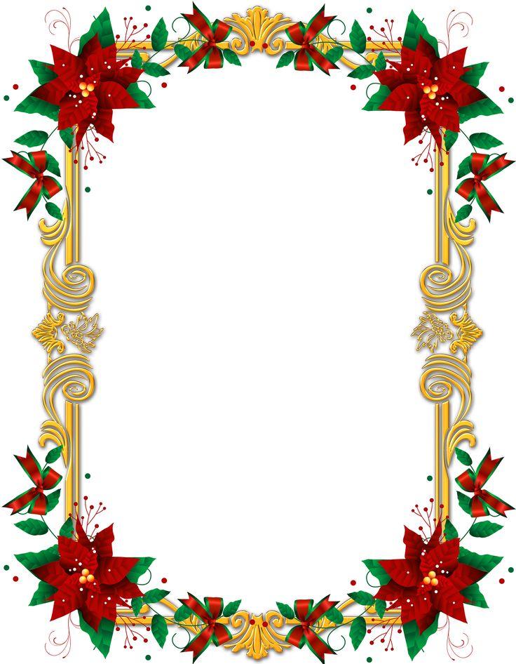 free clip art poinsettia border - photo #11