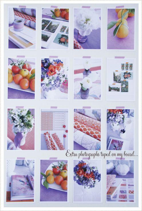 Bold oranges • light lavenders • hints of green • pristine ...