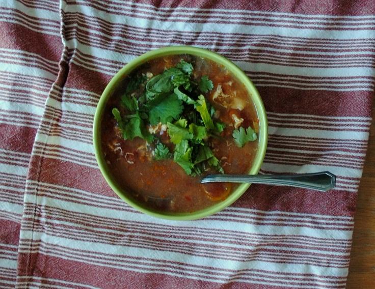 tomato egg drop soup | Whole 30 | Pinterest