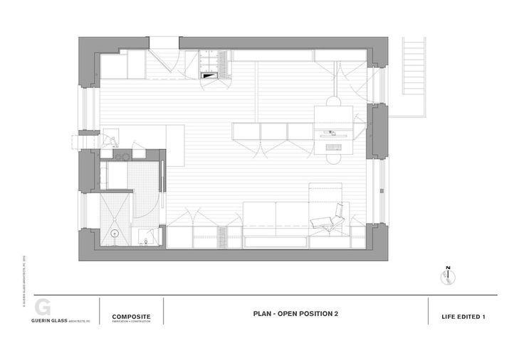 for the apartment was to fit 700 square feet into 420 square feet