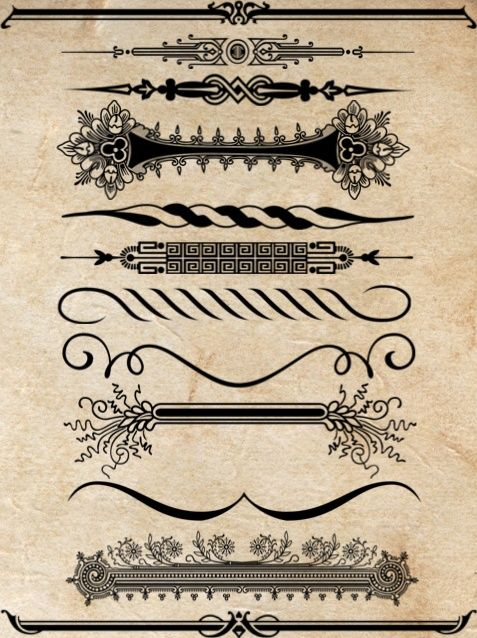 Free 40 Unique Borders brushes http://themecavern.com/free-40-unique-borders-brushes