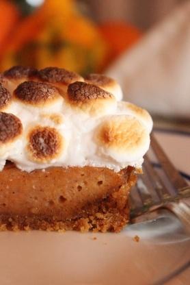 sweet potato pie with toasted marshmallow meringue