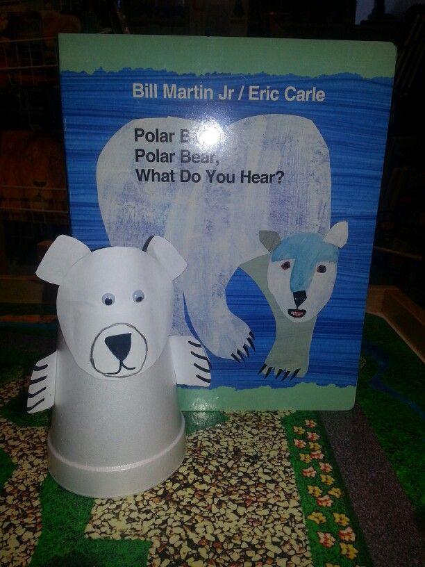 Bear art activity for the Polar bear Polar Bear, what do you hear ...