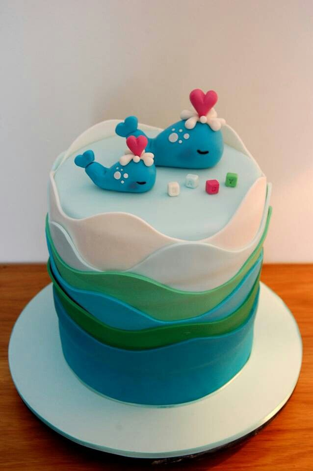 whale baby shower cake zara rose designs my cakes pinterest