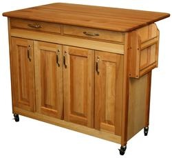 Wood Finish Kitchen Island With Wheels Home Remodel Projects Pin