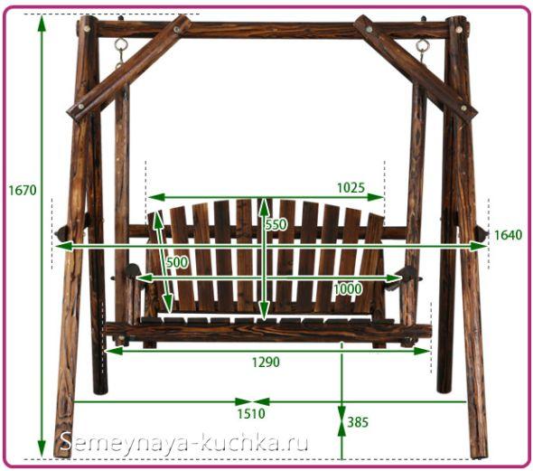 Как сделать качели из дерева чертежи 46