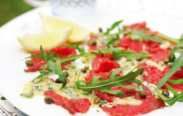Beef Carpaccio with Mustard Sauce | ♥ Foodies | Pinterest