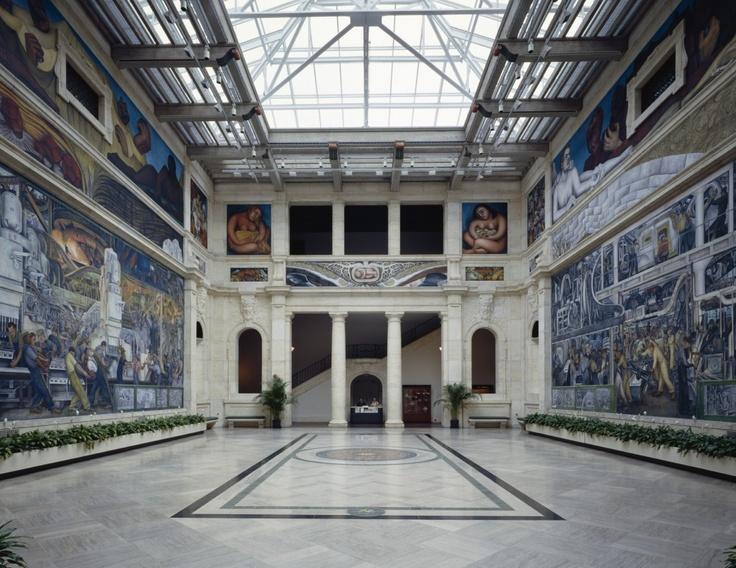 Rivera court detroit institute of art southeast for Diego rivera mural detroit institute of arts