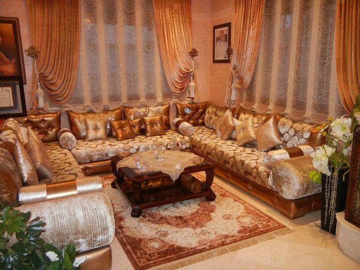 Moroccan salon love morocco pinterest for Moroccan living room furniture 01