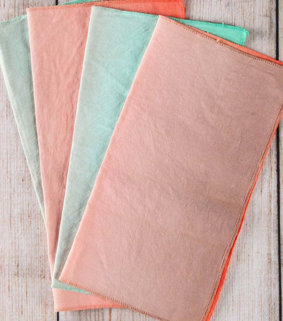 Learn how to dip and dye your very own ombre napkins! #joannhandmade