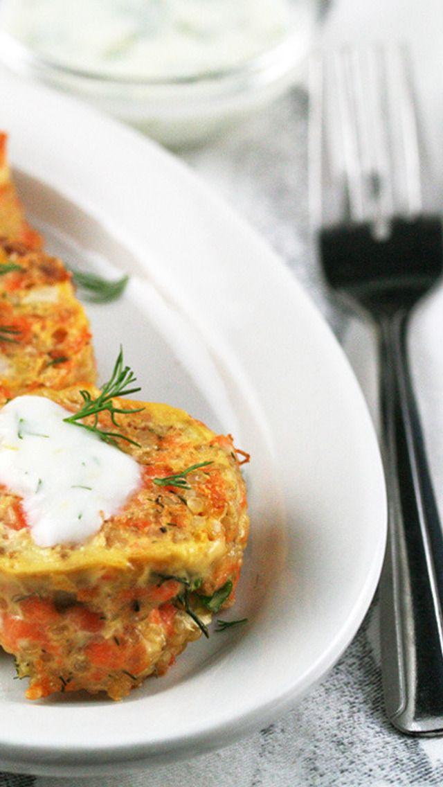 Salmon And Quinoa Patties With Lemon-Yogurt Sauce Recipes — Dishmaps