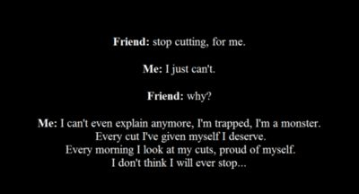 how to help someone who relapsed cutting