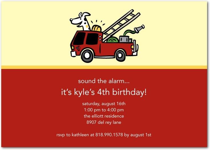 Fire Truck Invitation for nice invitation design