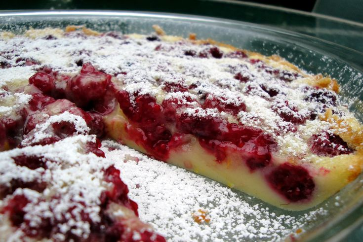 Raspberry clafouti | Shake and Bake | Pinterest
