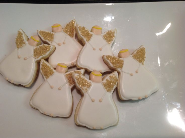Angels - Decorated Sugar Cookies by I Am The Cookie Lady