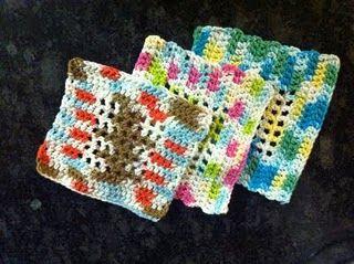 Easy Mesh Dishcloth ~ free pattern | Crochet | Pinterest