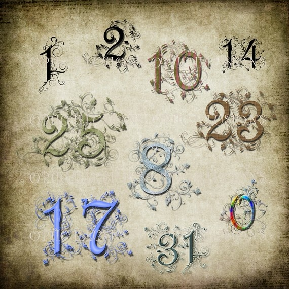 Fancy number fonts for tattoos pictures to pin on for Number 7 tattoo gallery