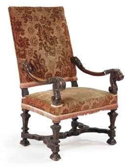 Louis Xiv Walnut Highback Armchair Chairs Pinterest