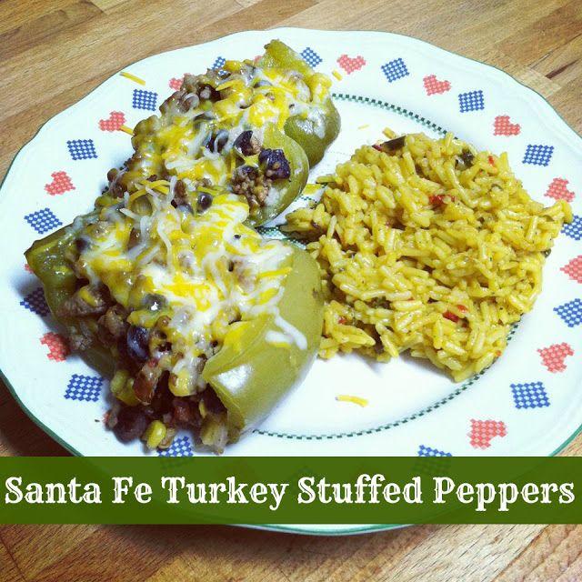 Santa Fe Turkey Stuffed Peppers - from Penguins, Pasta & Polka Dots ...