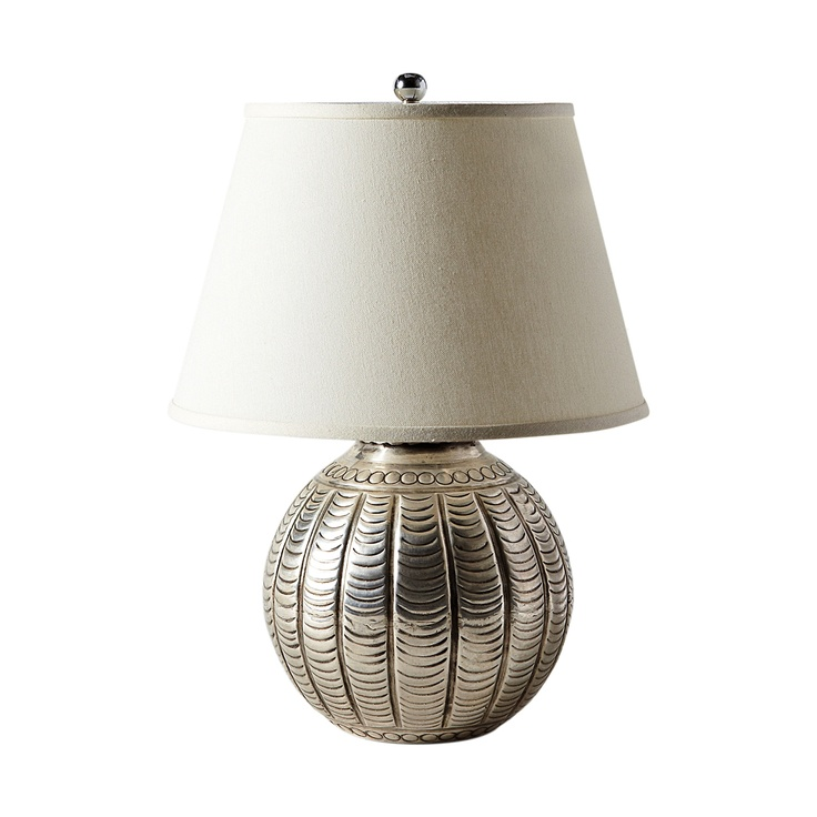hammered metal lamp the shade isn 39 t the most appealing but i love. Black Bedroom Furniture Sets. Home Design Ideas