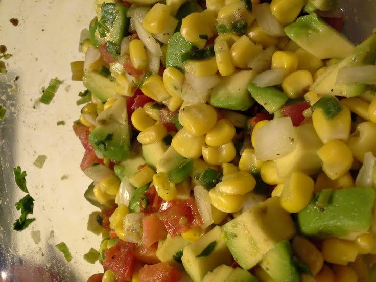 "Sweet Corn and Avocado Salsa! ""excellent alone with chips or served ..."