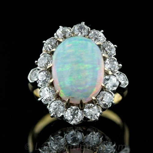 Antique Opal and Diamond Ring Coincidences