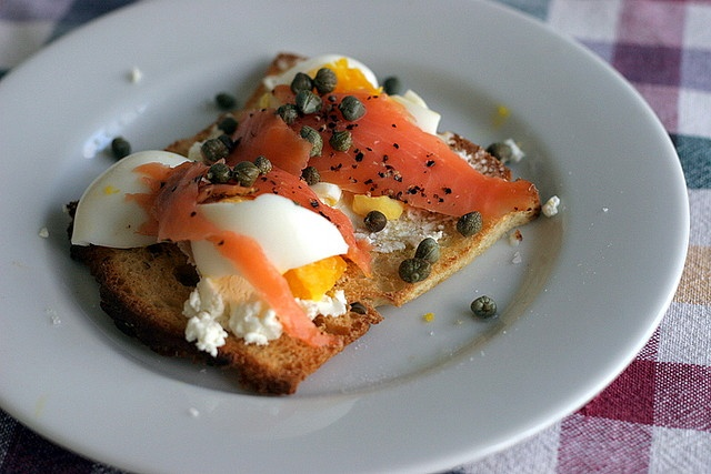 Smoked Salmon And Goat Cheese Toasts Recipes — Dishmaps