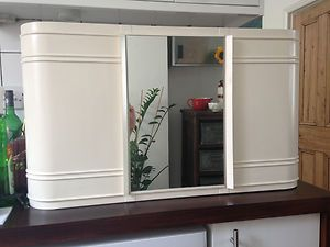 metal vintage bathroom cabinet wall mounted art deco style with mirror