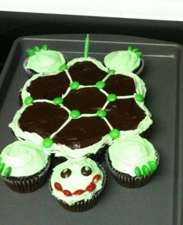 TURTLE CUPCAKE PULL-APART | Stuff for Lulu | Pinterest
