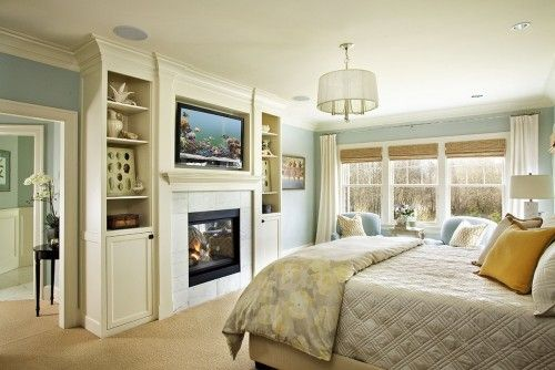 built ins and duel fire place
