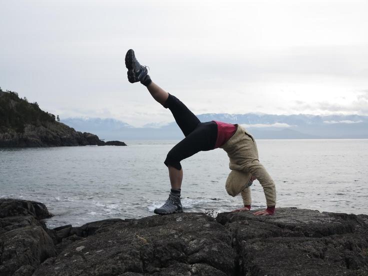 East Sooke Park | Cool yoga poses | Pinterest