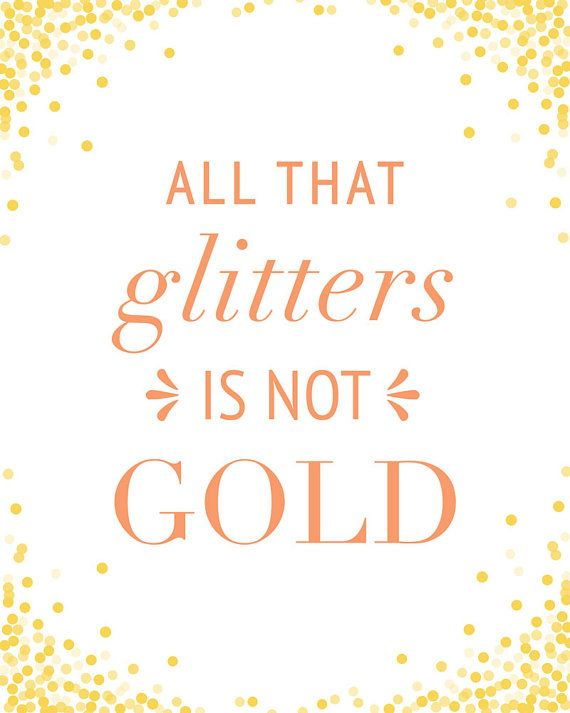 what glitters is not gold-essay