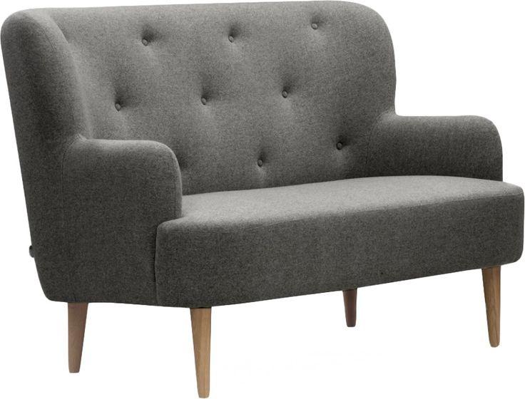 Wilbo 2seter sofa i lys grå. Finnes i mørk grå, lys blå og rødt ...