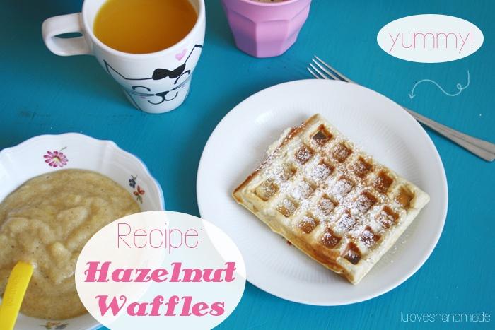 hazelnut waffles | Yummy | Pinterest