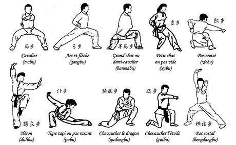 Wushu stances wushu pinterest for Kung fu technique de base pdf