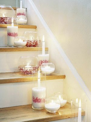 cranberries with sugar as candleholder