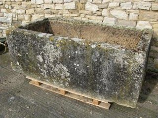 salvaged stone animal water trough / England / late18th century ...