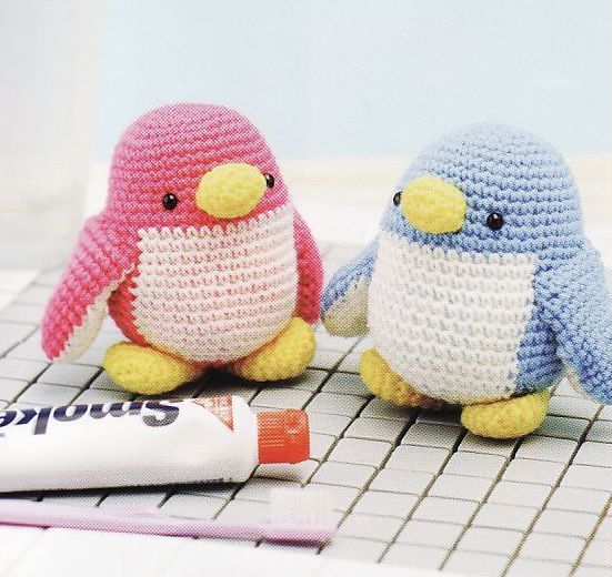 Knit Penguin Amigurumi Pattern : Amigurumi Penguin Crochet Pinterest