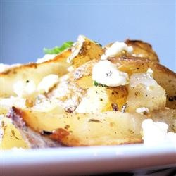 Herbed Greek Roasted Potatoes with Feta Cheese | Recipe