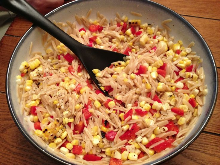 Lemon orzo salad...so delicious and super healthy! Just made this last ...