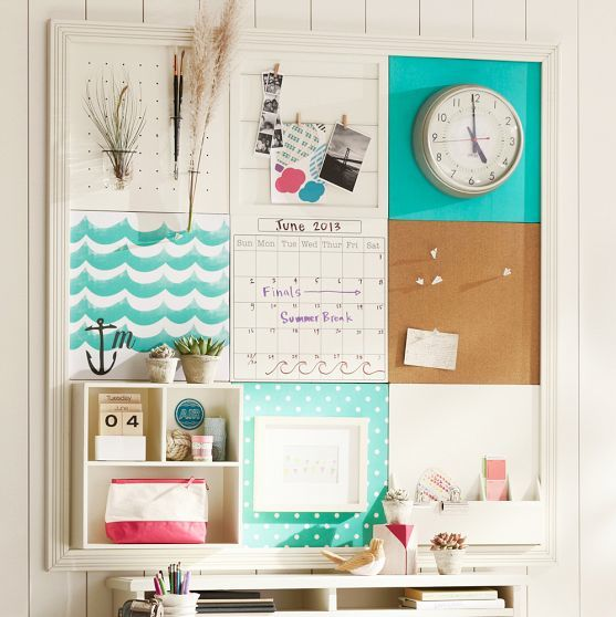 Amazing bulletin board bedroom decorating pinterest for Diy bulletin board for bedroom