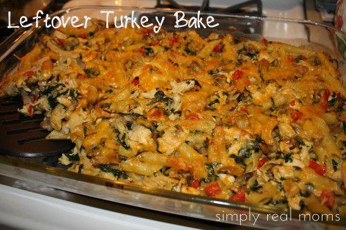 Leftover Turkey Pasta Bake | recipes to try | Pinterest