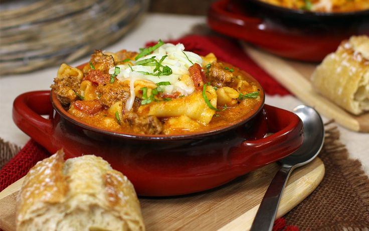 The Ultimate Three-Cheese Lasagna Soup | food / pasta | Pinterest